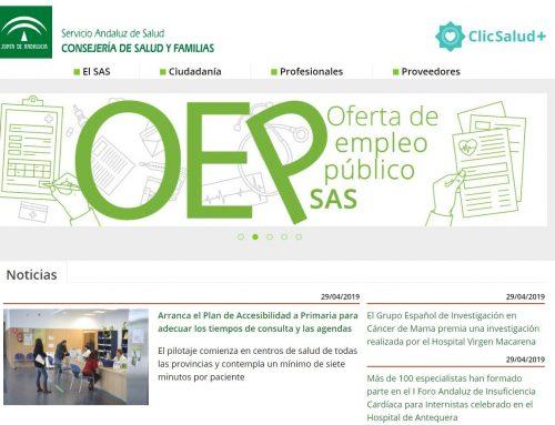 El SAS lanza su nueva web, más accesible y con versión móvil