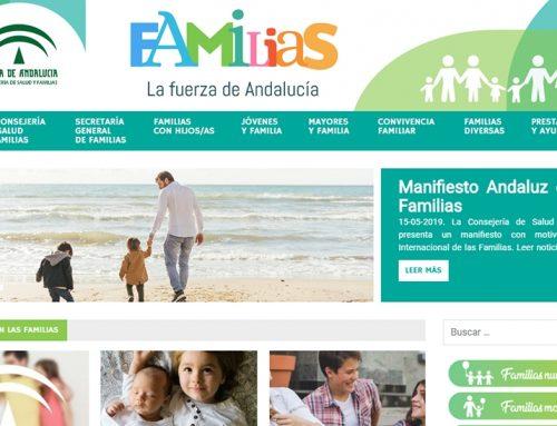 «Familiasandalucia.es»: nueva web y app de la Consejería de Salud y Familias