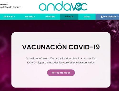 Información actualizada sobre la campaña de vacunación COVID-19 en la web de «Andavac»