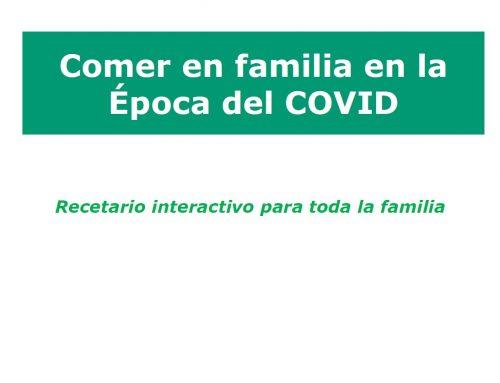 Guía interactiva para comer en familia en época de Covid-19