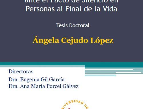 Tesis doctoral: Discurso de los profesionales sanitarios ante el pacto de silencio en personas al final de la vida