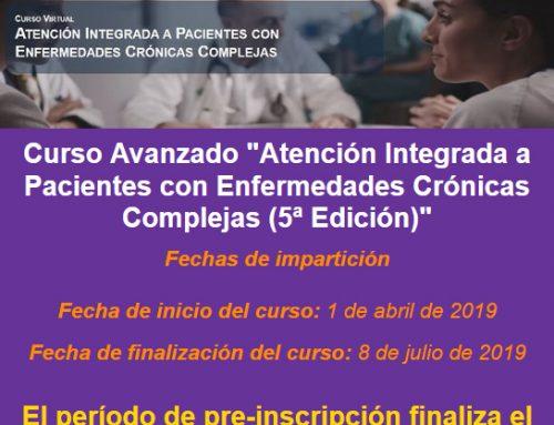 Curso avanzado Opimec: «Atención integrada a pacientes con enfermedades crónicas complejas (5ª edición)»