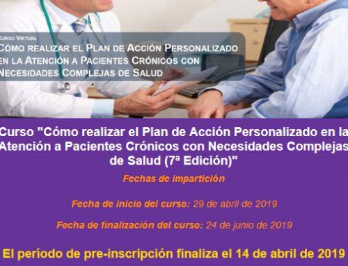 Curso Opimec: Cómo realizar el plan de acción personalizado en la atención a pacientes crónicos con necesidades complejas de salud (7ª Edición)»