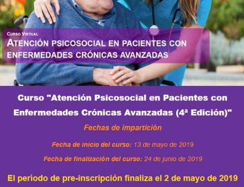 Curso Opimec: Atención psicosocial en pacientes con enfermedades crónicas avanzadas (4ª Edición)