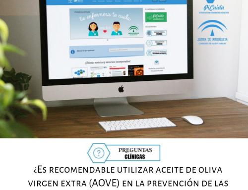 Evidencias: Uso del aceite de oliva virgen extra (AOVE) en la prevención de las grietas del pezón en mujeres lactantes