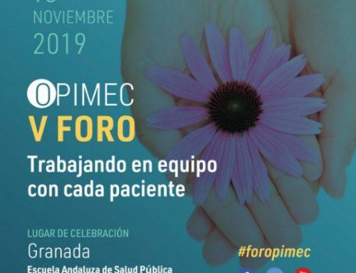 V Foro Opimec: Trabajando en equipo con cada paciente [Granada, 13 de noviembre]