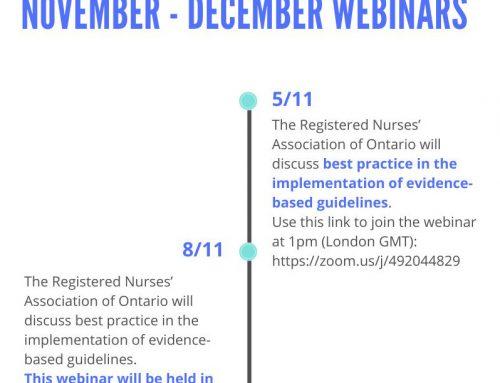 #Webinar: Práctica basada en evidencia: desarrollo, implementación y evaluación de guías [5 y 8 de noviembre]