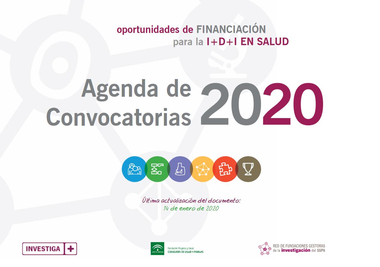Imagen Agenda de convocatorias 2020 Financiacion I+D+I