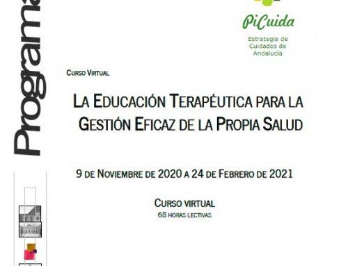 Curso virtual: La educación terapéutica para la gestión eficaz de la propia salud